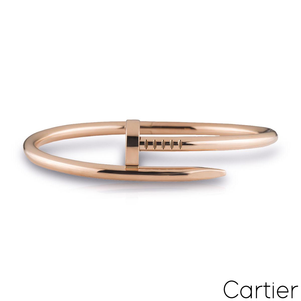 Cartier Rose Gold Plain Juste Un Clou Bracelet Size 18 B6048118